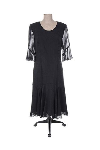 Robe mi-longue noir CHRISTIAN MICHEL pour femme