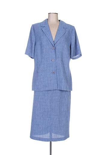 Veste/jupe bleu REGINE pour femme
