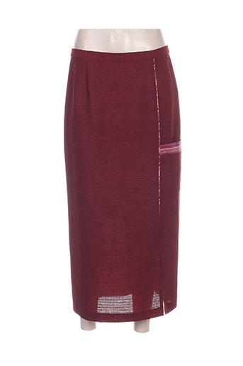 regine jupes femme de couleur rouge
