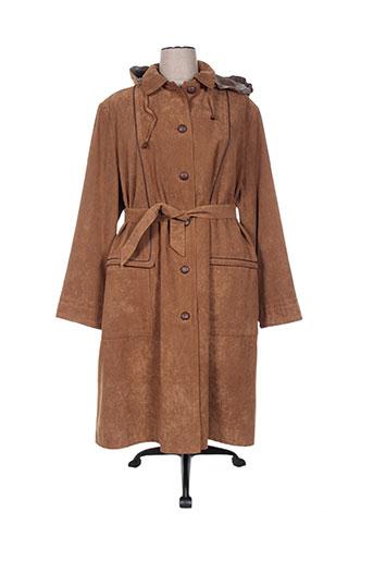 le temps d'havrey manteaux femme de couleur marron