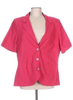Veste casual rose REGINE pour femme