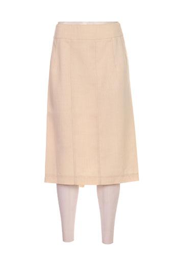 Jupe mi-longue beige DELMOD pour femme