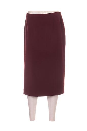 francoise jupes femme de couleur rouge
