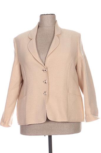 c.s creations vestes femme de couleur beige