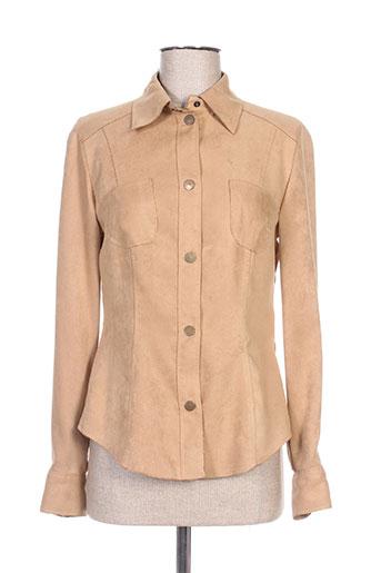 antonelle chemises femme de couleur beige