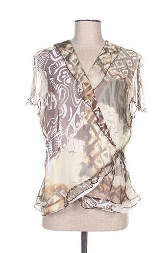 c.s creations chemises femme de couleur marron