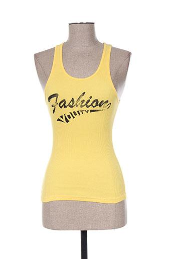 you t-shirts femme de couleur jaune