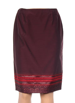Jupe mi-longue rouge ANTONELLE pour femme