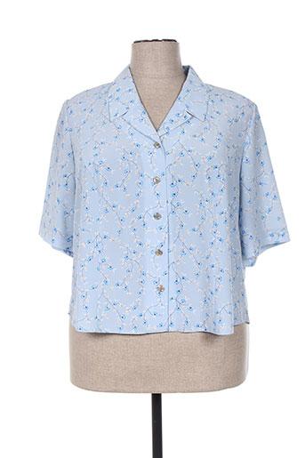 francoise de france chemises femme de couleur bleu