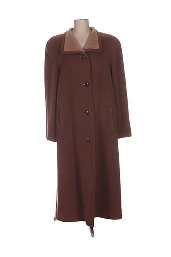regine manteaux femme de couleur marron