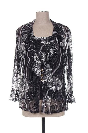 Veste casual noir CREATIONS SONIA pour femme