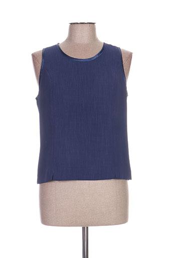 christian michel chemises femme de couleur bleu