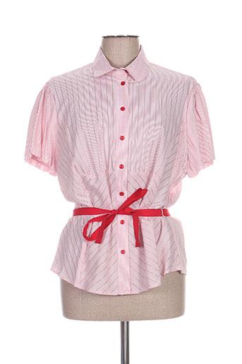 luisa viola chemises femme de couleur rouge