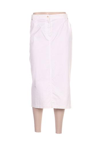 luisa viola jupes femme de couleur blanc