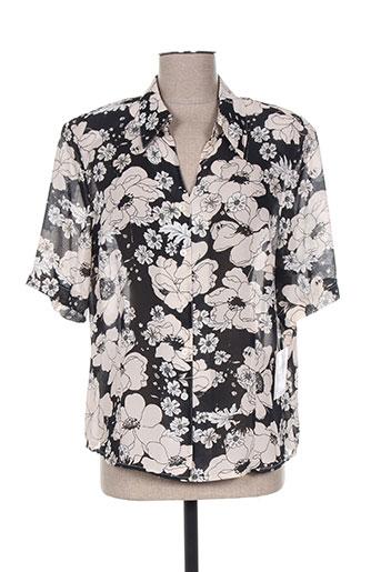 delmod chemises femme de couleur noir