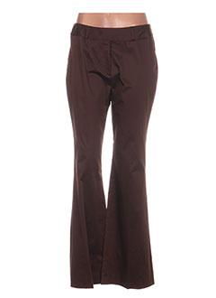 Pantalon casual marron ANTONELLE pour femme