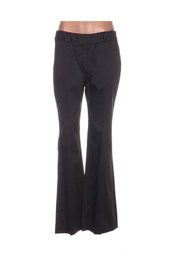 antonelle pantalons femme de couleur noir