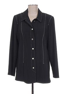 Veste casual noir FRANCOISE F pour femme