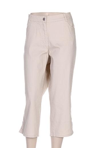 lebek pantacourts femme de couleur beige