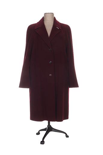 regine manteaux femme de couleur rouge