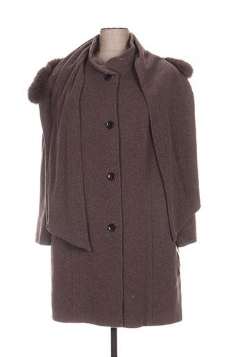 lebek manteaux femme de couleur marron