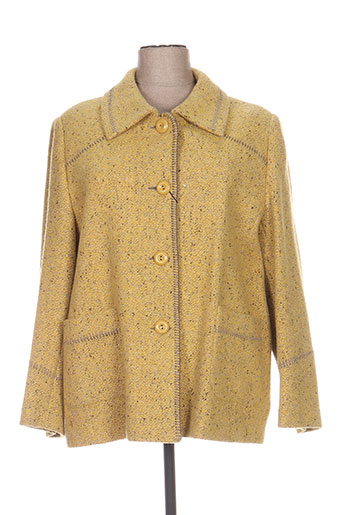 Manteau long jaune FASHION pour femme