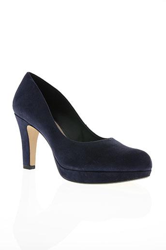 clarks chaussures femme de couleur bleu