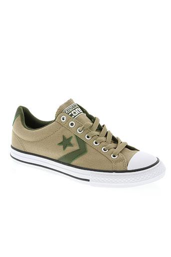 converse chaussures garçon de couleur beige
