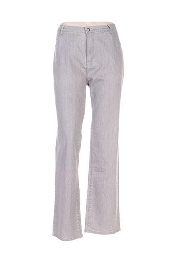 i.quing pantalons femme de couleur gris