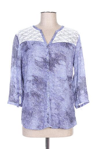 felino chemises femme de couleur bleu