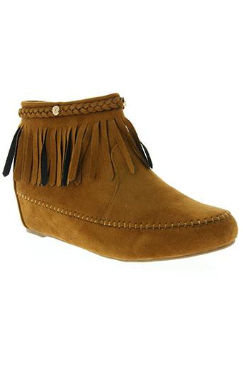 initiale paris chaussures femme de couleur marron