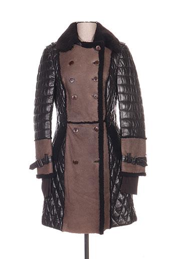 akhesa manteaux femme de couleur marron