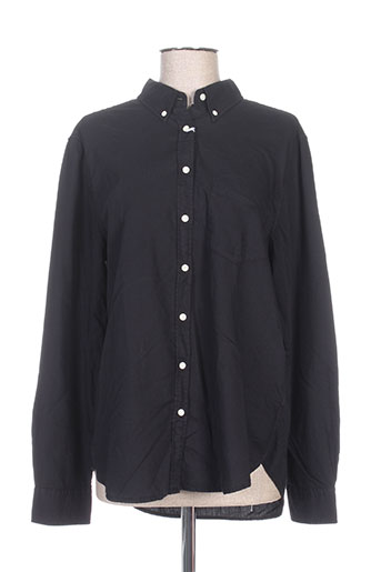 gant chemises femme de couleur noir