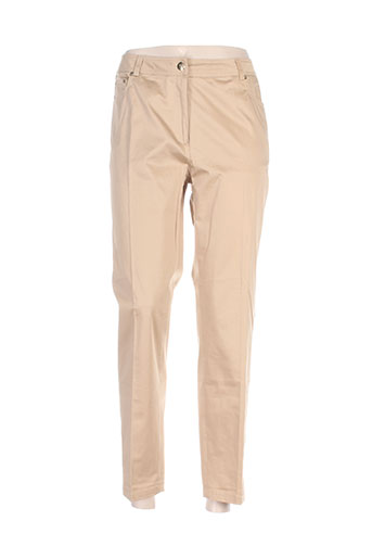 weill pantalons femme de couleur beige