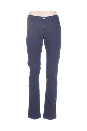 gant pantalons femme de couleur bleu