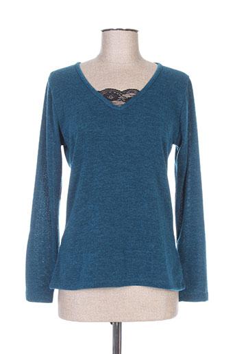 collie pulls femme de couleur bleu