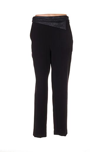 lea lau pantalons femme de couleur noir