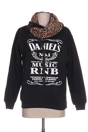 Sweat-shirt noir DANIEL'S MUSIC pour garçon