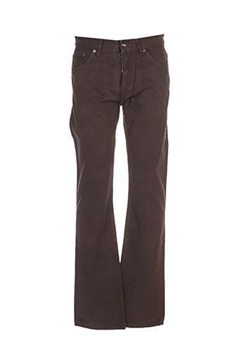gant jeans homme de couleur marron