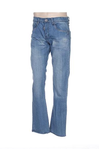 Jeans coupe droite bleu BIAGGIO pour homme