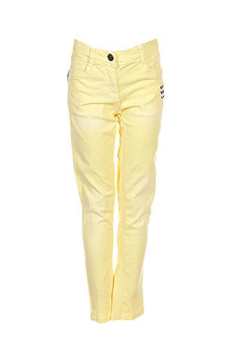 tuc tuc pantalons fille de couleur jaune