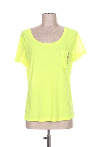 essentiel chemises femme de couleur jaune