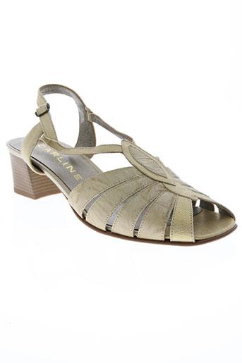 carline chaussures femme de couleur beige
