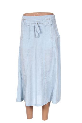 carole richard jupes femme de couleur bleu