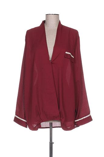 evanna chemises femme de couleur rouge