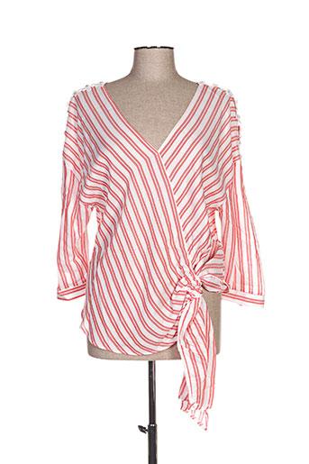mark's ther chemises femme de couleur rouge