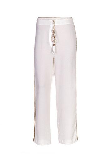 mark's ther pantalons femme de couleur blanc