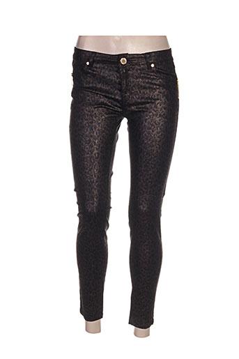 frime pantalons femme de couleur marron