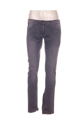 nvy denim jeans femme de couleur gris