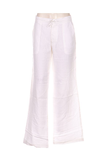 teddy smith pantalons femme de couleur blanc